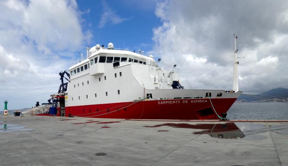 O buque Sarmiento de Gamboa participou na XXX Campaña Antártica Española