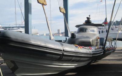 O primeiro barco robot autónomo de España navega en Vigo
