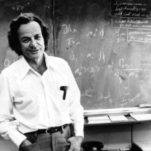 Richard Feynman, un dos pioneiros da nanotecnoloxía.